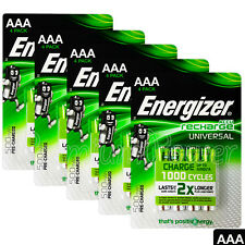 20 x Energizer AAA batteries Rechargeable Universal 500mAh Accu NiMH HR03 4 Pack