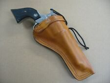 """Beretta Stampede 5 1/2"""" Single Action Revolver Leather Cross Draw Holster TAN RH"""