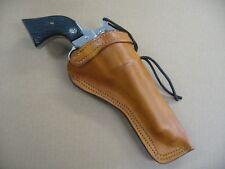 "Ruger Blackhawk 5 1/2"" Single Action Revolver Leather Cross Draw Holster TAN RH"