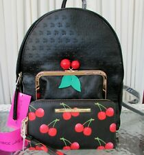 Betsey Johnson Cherry on Top Large Backpack