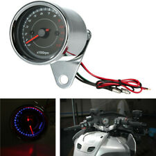 0 - 13,000RPM Motorcycle LED Backlight Tachometer Speedometer Gauge Waterproof