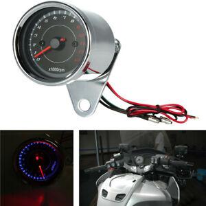 0 - 13,000RPM Motorcycle LED Backlight Tachometer Speedometer Gauge Waterproof
