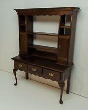 SUPERB Signed Jeanne Chapman Dollhouse Miniature Furniture Hutch Desk? 1982