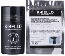 K-BELLO Hair Building Fibers poudre densitée cheveux ≠nanogen caboki hair30 kmax