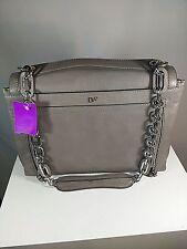 Diane von Furstenberg Gray Shoulder Bag Handbag