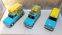 Oxford Diecast Set Of Three Walls Ice Cream Ford Anglia Vans. 1:43 Scale. MIB