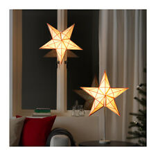 Ikea Strala Star Pendant Lamp Shade Hanging Light Lace Red & White NEW