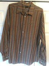 EUC! Mens XXL 100% Cotton Multi-color Striped Enyce L/S Button Up Casual Shirt