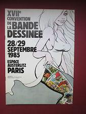 ROSINSKI PROGRAMME XVII EME CONVENTION DE LA BD 1985 PARIS AUSTERLITZ  TTBE