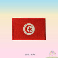 Tunisia National Flag Embroidered Iron On Patch Sew On Badge Applique