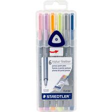 Staedtler 334 Sb6cs1 Triplus Fineliner Pens 6 Color Pastel Set