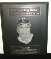 1969 Willie McCovey San Fran Giants Sporting News NL Player of The Year Award