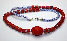 Afrika Halskette mit böhmischen seed tile und goose egg Perlen