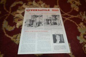 Versatile Tractor News For June 1973 Brochure FCCA