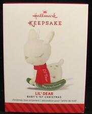 2014 Hallmark Ornament - Baby's 1st Christmas Lil' Dear (Rocking Deer) Nib
