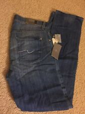 NWT $198 7 For All Mankind Mens Carsen Easy Straight Leg Jean 30 X 34
