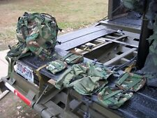 Military Surplus Medic Bag Molle Ii Woodland Camo +4 Pouches+Bandoleer Insert Us