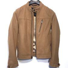 BANANA REPUBLIC Mens Camel Tan Wool Blend Lined Bomber Jacket Coat XS -MSRP $268