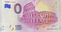 BILLET 0  EURO ROMA COLOSSEO    ITALIE  2019  NUMERO 1000