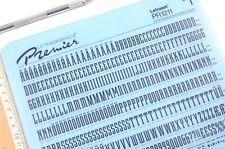 Letraset Premier Rub on Letter Transfers 48pt Robotik (#1211) 12.0 Mm
