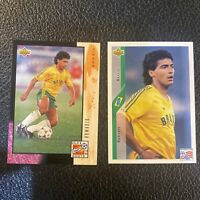 1994 Upper Deck World Cup USA '94 Soccer Card #76 Romario - Brazil - Lot Of 2