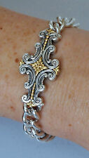 Konstantino Decorative Design Bracelet Sterling Silver 18K Yellow Gold  Eros New