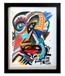 EXPRESSIONISM ABSTRACT PAINTING ART MODERNIST ORIGINAL GALLERY ART SIGNED FRAMED