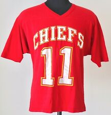Vintage Kansas City Chiefs #11 T-Shirt MEDIUM Red NFL Football V-Neck