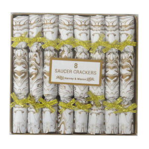 Harvey and Mason Christmas / Afternoon Tea, Saucer Side Crackers - Box of 8