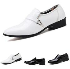 Mens Business Leisure Shoes Pointy Toe Oxfords Shiny Slip on Work Office 38-48 L