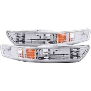 Set of Pair Euro Clear Signal Bumper Lights for 1998-2001 Acura Integra