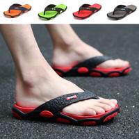 Mens Casual Thong Flip Flops Slippers Summer Sandals Comfort Beach Shoes