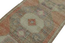 HANDMADE Runner Rug, 2.8x13.2 ft, Turkish Runner rug, Pink and Beige Runner rug