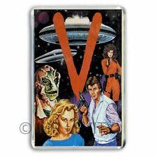 RETRO TV:  'V' VISITORS TOY FIGURE CARD ARTWORK JUMBO FRIDGE / LOCKER MAGNET
