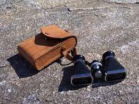 Vintage Binoculars Opera / Field OFUNA 3 X 10 Power w/ Leather Case Japan