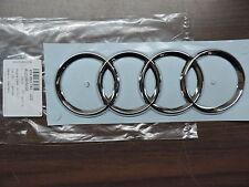 Original Audi A6 4F Emblem Ringe Schriftzug Heckklappe Heck Zeichen Aufkleber