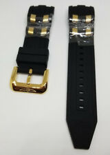 OEM Invicta Pro Diver Scuba Black Rubber Gold Inserts Strap Band 6981 Etc.