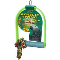 Lazy Bones Acrylic Swing With Perch 27x50cm - For Large Birds & Small Parrots