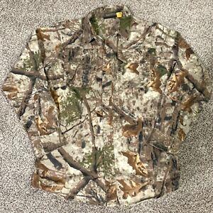 Cabelas Zone Woodlands Camo Shirt Hunting Fishing Youth 10