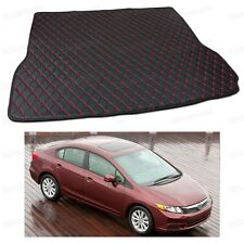 PU Leather Car Trunk Mat Cargo Pad Carpet Fit for Honda Civic Sedan 2012-2015
