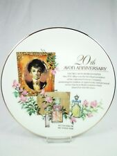 Vintage 1993 Avon 20th Anniversary Plate Photo of 1st Avon Representative NWB