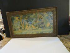 "1918 MAXFIELD PARRISH-""THE GARDEN OF ALLAH""-20 3/4 x 11 3/4"" Framed-ART DECO"