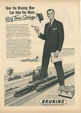 1959 Bruning Copy Machines Ad Giant Salesman Vintage Office Equipment