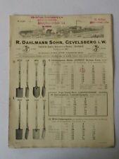 1931 ORIGINAL R: DAHLMANN SOHN GEVELSBERG SPATEN SCHAUFELN HACKEN STIELFABRIK