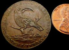 T623a: 1790's Conder Token : Hall's Toucan & Old Ship Halfpenny : D&H Middx.319c
