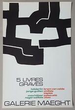 "Eduardo Chillida: ""5 Livres Gravés"" Plakat Poster Galerie Maeght Paris 1971"