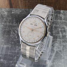 Vintage Telda Watch Triple Date Calendar Herren Uhr 32mm läuft super