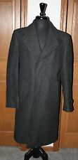 VTG Men's Alpaca Wool Trench Coat Over Coat Peacoat Charcoal 40 Long Alpacunit