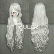Long Curly angel sanctuary-Rosiel Sliver White Anime Cosplay Party Wig Hair