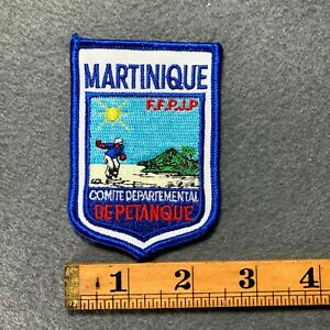Martinique FFPJP Comite Depatemental De Petanque France Patch E3